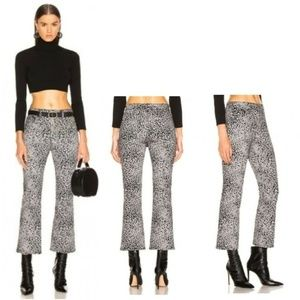 Rag and Bone Grey Hana Velvet Cheetah Jeans
